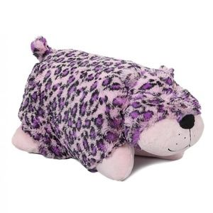 Pillow Pets - Pink & Purple Spotted Leopard